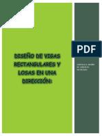 Diseño de Vigas Rectangulares y Losas en Una Dirección