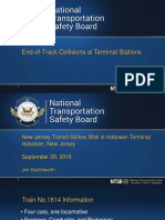 NTSB Presentation on End-of-Track Collisions at Terminal Stations