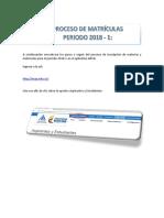 Instructivo Proceso Matrícula 2018 1 (1)