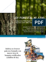 LEY FORESTAL Nº 1700