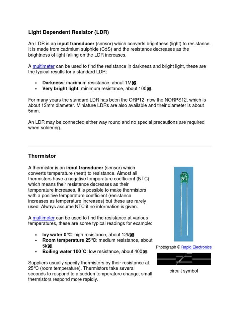 Light Dependent Resistor Inductor Loudspeaker Application Circuit