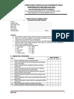Instrumen Evaluasi Pembelajaran 2016