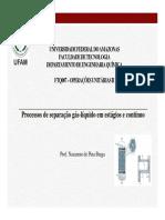 Tema 1 Processos de Separação Gás Líquido Em Estágios e Contínuo