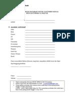 Form Permintaan Database Customer