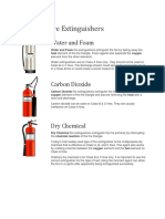Types of Extinguisher