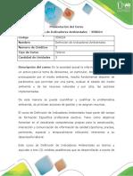 Presentación Curso Definición de Indicadores Ambientales