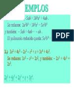 Reduccion de Términos Algebraicos