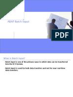 ABAP Batch Input
