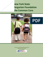New York State PreK Foundations for the Common Core