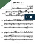 Barsanti Op 1 sonata