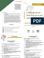 Programa  Coloquio Freire