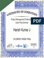 PMP Exam Seminar 889110