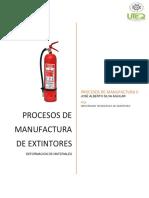Procesos de Manufactura Extintor