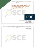 Cuadro Comparado Ley 30225 Mediante DL 1341