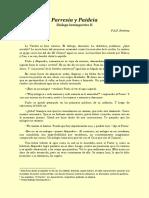Diálogo Intempestivo II, Parresía y Paideia