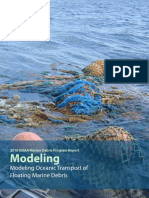 Modeling Oceanic Transport of Floating Marine Debris