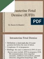 Intrauterine Fetal Demise (IUFD)