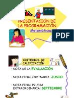 PRESENTACIÓN DE LA PROGRAMACIÓN MATE2