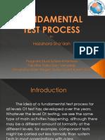 Fundamental Test Process