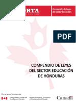 Compendio de Leyes Del Sector Educacion de Honduras_digital_formato