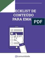 Checklist de Conteúdo Para Email