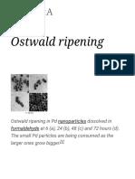 Ostwald Ripening