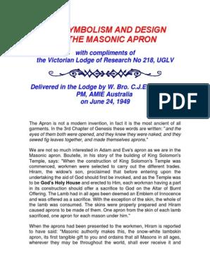 Gold Finish ACT-G Masonic Apron Chain Tassels