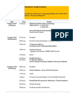 Programme Itinerary for Prof Emeritus Dr Suwilai