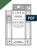 Liber HHH sub figurâ CCCXLI by Aleister Crowley
