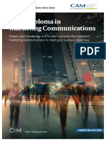 Cam Diploma in Marketing Communications