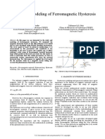 Study and Modeling of Ferromagnetic Hysteresis
