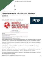 Instalación Del Mapa Al GPS