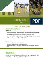Sack Race Report