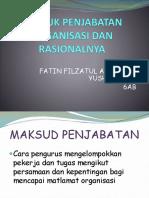Bentuk Penjabatan Organisasi & Rasionalnya - Fatin (6AB)