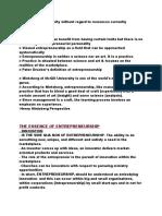 Entrepreneurial Leadership NOTES