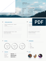 Download Contoh CV Kreatif PDF Doc Timeline Doc