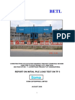 Initial Pile Load Test Report - TP 3