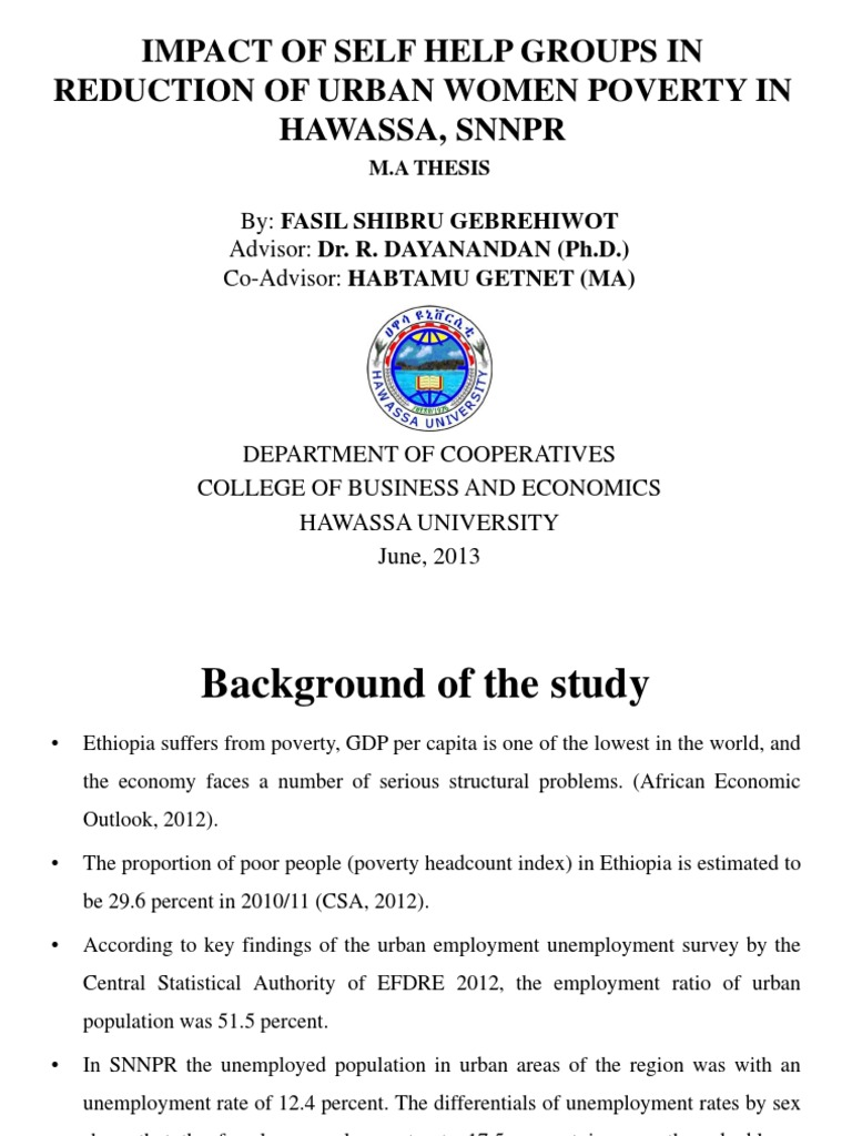 Phd thesis on self help groups