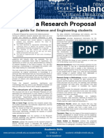 Writing a Research Proposal Science Engineering Update 051112