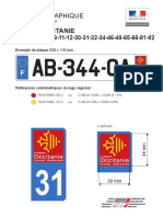 Charte graphique de l'identifiant territorial des plaques d'immatriculation de la région