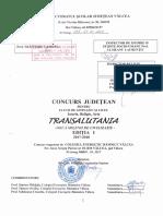 CONCURS SI SIMPOZION JUDETEAN - TRANSALUTANIA - EDITIA I