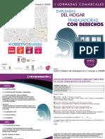 DIPTICO I JORNADAS COMARCALES EMPLEADAS DEL HOGAR. TRABAJADORAS CON DERECHOS