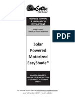 01. Solar Motorized EasyShade Installation