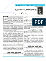 Altering Rhythmic Subdivision