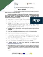 Regulamento Concurso de Escrita Criativa 2018