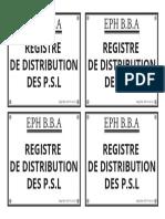 Etiquette-registre de Distribution Des Psl