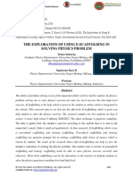The Exploration of Using E-scaffolding in Solving Physics Problem