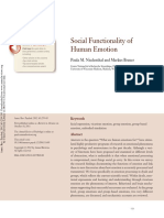 Social Functionality of Human Emotion