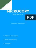 Microcopy Workshop