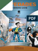 Boletín Cómic Febrero 2018